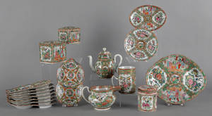 Group of Chinese export porcelain and rose medallion porcelain
