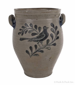 New York stoneware crock early 19th c