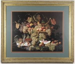 Severin Roesen Lithograph Still Life with Fruit