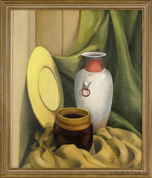 Charles Shinn oil on canvas still life