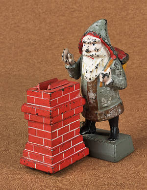 Cast iron  Santa Claus  mechanical bank manufactured by Shepard Hardware Co