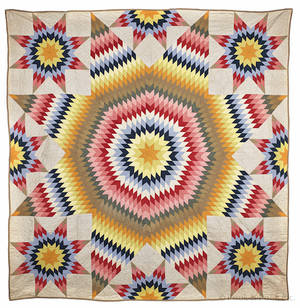 Pennsylvania patchwork star quilt late 19th c