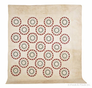 Pennsylvania pieced mariners star friendship quilt ca 1850
