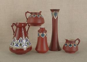 Five pieces of Haynes Pottery
