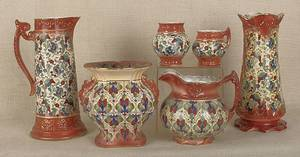 Six pieces of Haynes Pottery