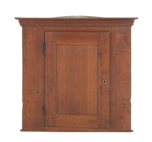 Pennsylvania walnut hanging corner cupboard