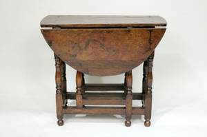 19th C Oak Drop Leaf Table
