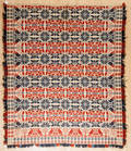 Lancaster County Pennsylvania jacquard coverlet dated