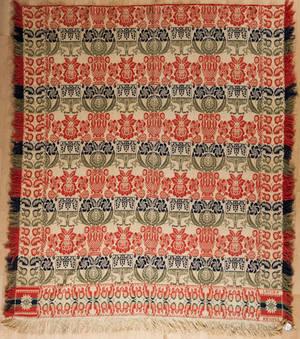 Jacquard coverlet ca 1840
