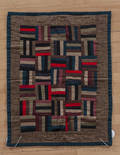 Amish log cabin crib quilt