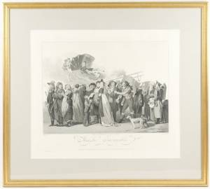 19th C French Engraving Marche Incroyable