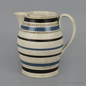 Mocha pitcher early 19th c