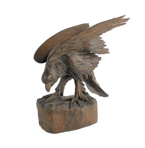 Carved figure of an eagle