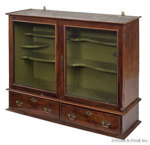 English mahogany table top cupboard
