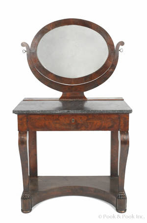 New York classical mahogany dressing table ca 1820