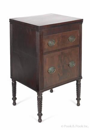 Pennsylvania Sheraton mahogany writing stand ca1810