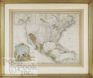 Engraved map of America
