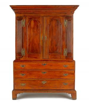 New Jersey or New York gumwood linen press late 18th c
