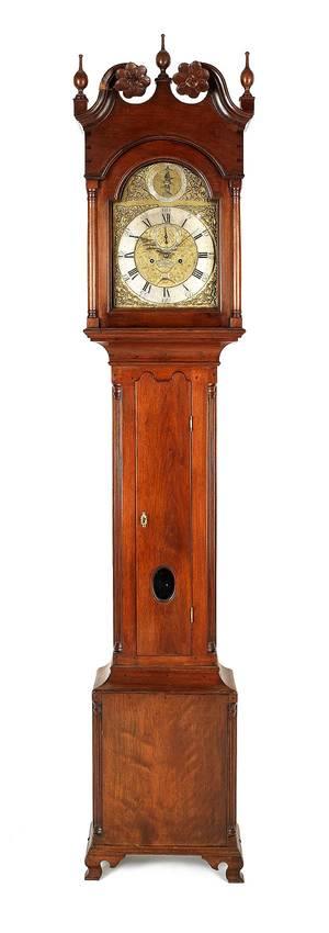 Chester County Pennsylvania Chippendale walnut tall case clock ca 1770