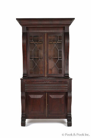 New York Empire mahogany secretary