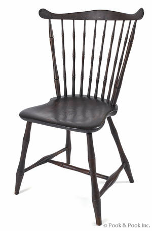Pennsylvania fanback Windsor side chair