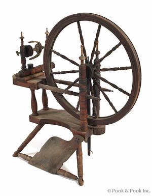 Pennsylvania oak spinning wheel