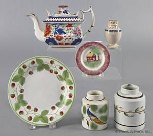 Group of English ceramics