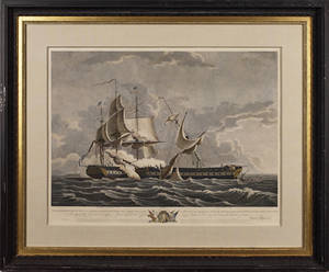 Pair of nautical color lithographs after Thomas Birch