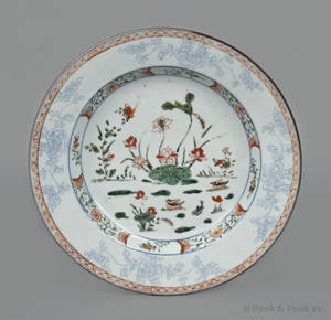Chinese porcelain plate mid 18th c