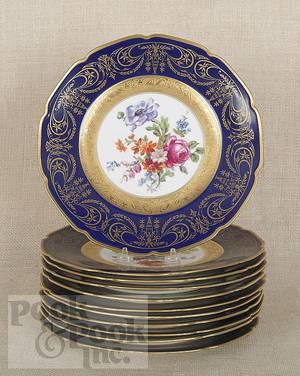 Set of eleven Czechoslovakian porcelain cabinet plates