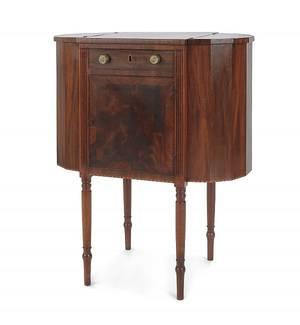 Massachusetts Sheraton mahogany sewing stand ca 1810