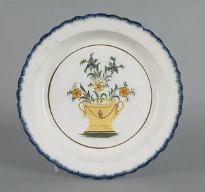 Leeds blue feather edge plate early 19th c