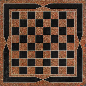 Painted slate checkerboard