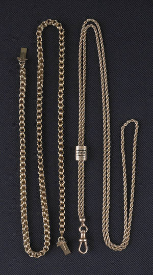 Two 14K yellow gold chains