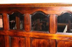 Mirror Topped Raised Panel Wainscoting in Pine