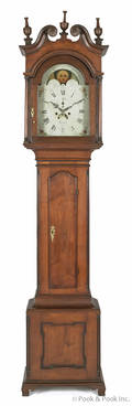 Montgomery County Pennsylvania Chippendale walnut tall case clock ca 1810