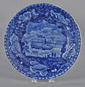 Historical blue Staffordshire Union Line plate 19th c