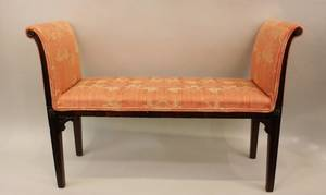 Narrow Hepplewhite Mahogany Bench