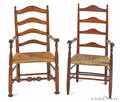 Delaware Valley ladderback armchair