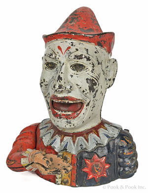 Cast iron  Humpty Dumpty  mechanical bank manufactured by Shepard Hardware Co