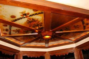Eight Panel Hand Painted Glass Ceiling