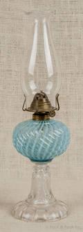 Blue opalescent fluid lamp