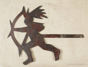 Sheet iron Indian weathervane early 20th c