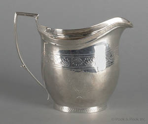 New York coin silver cream pitcher ca 1815