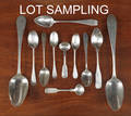 Collection of American coin silver spoons