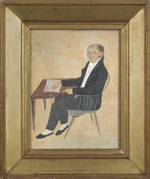 Pennsylvania watercolor portrait of William Thompson 17621829