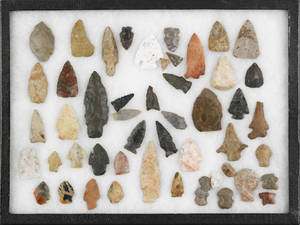 Approx fifty Native American arrowheads