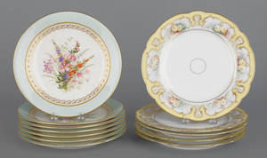 Set of six Royal Worcester porcelain plates