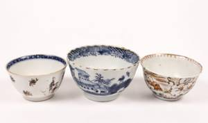 Group of 3 Chinese Porcelain Cups