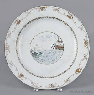 Important Chinese export porcelain charger mid 18th c